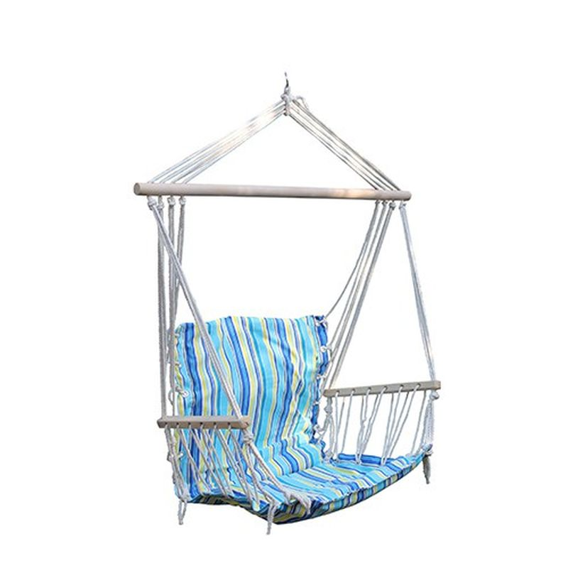 Гамак-кресло Reka, с подлокотниками, цвет: мультиколорHM-013Гамак-кресло Reka - прекрасное, уютное место для отдыха. Изделие выполнено из прочного хлопка и оснащено деревянными подлокотниками. Такой гамак украсит собой любой дачный участок, а также его можно взять в поход или на природу. Размеры: 100 х 57 см.