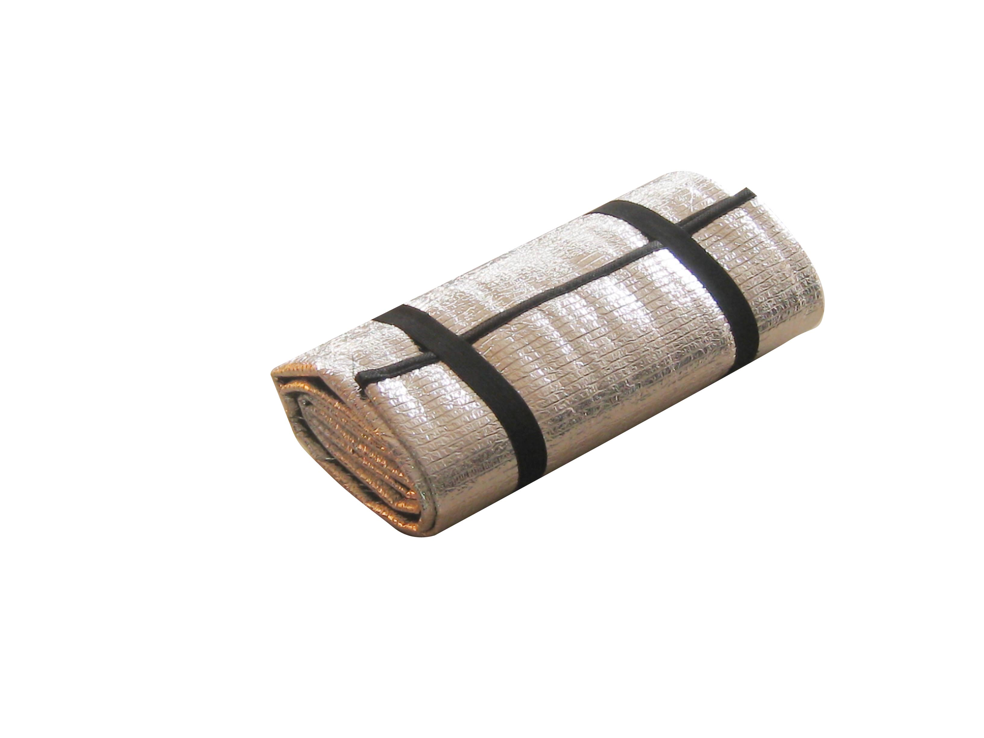 Коврик туристический Reka, цвет: серебристый, 180 х 50 х 0,2 смCM12Складной туристический коврик Reka выполнен из мягкого вспененного материала. Для дополнительного комфорта покрыт алюминиевой фольгой, обеспечивающей абсолютные барьерные свойства к кислороду и влаге, к проникновению бактерий и воздействию температур. Можно отметить, что алюминиевая фольга имеет высокую тепловую проводимость, обладает хорошей гибкостью и предотвращает основной материал от быстрого истирания, уменьшает теплопотери путем отражения инфракрасных волн.Коврик предназначен для туристических походов, выездов за город, рыбалки, для автомобилистов. На нем вы можете лежать, сидеть, спать без боязни за свое здоровье: он не пропускает холод и тепло, не впитывает влагу, легкий, мягкий, эластичный, экологически безопасный.Также коврик окажется незаменимым для занятия различными видами спорта. Сворачивается в рулон и затягивается ремешками для упрощения хранения и переноски.