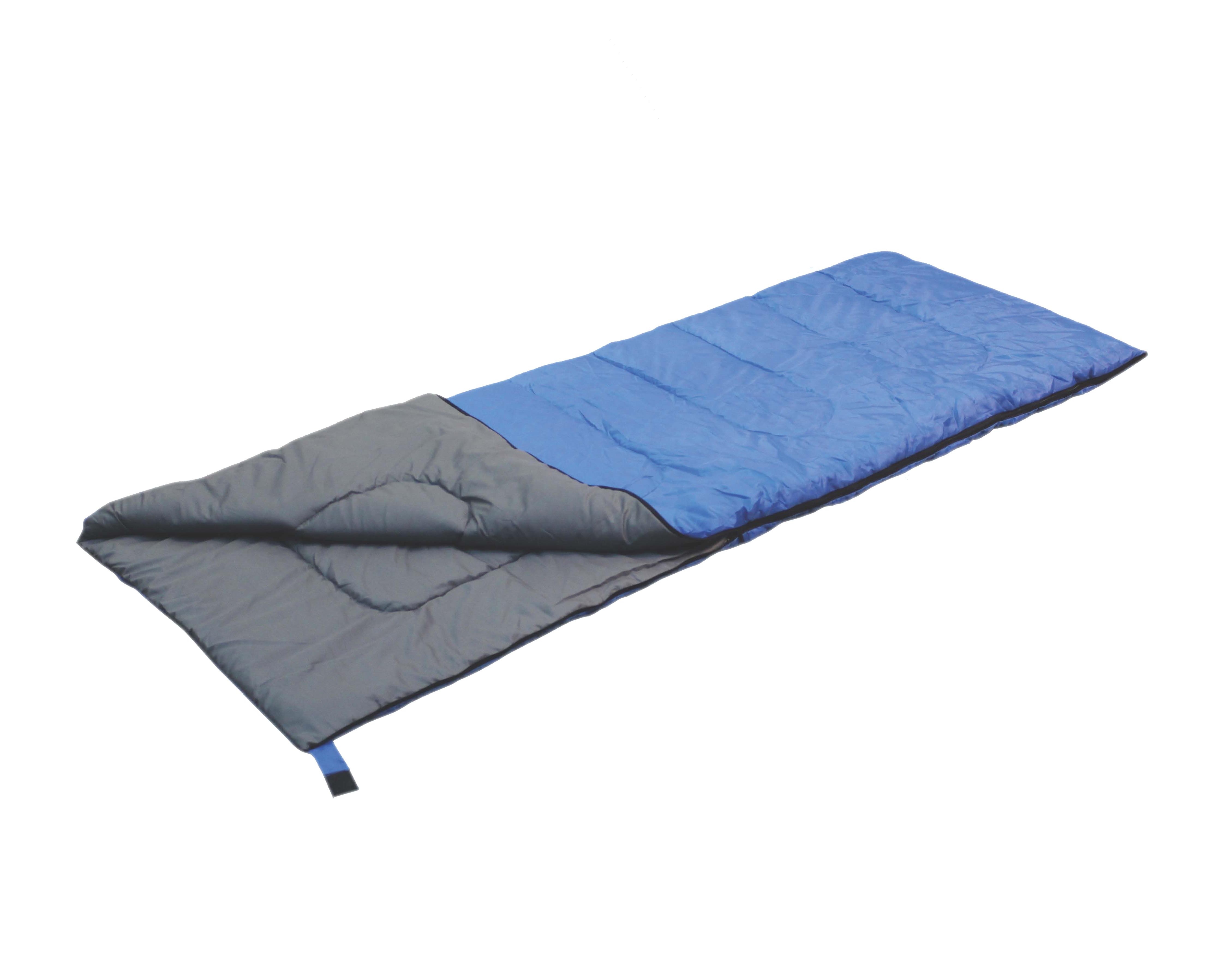Спальный мешок-одеяло Reka, правосторонняя молния, цвет: синий, черный