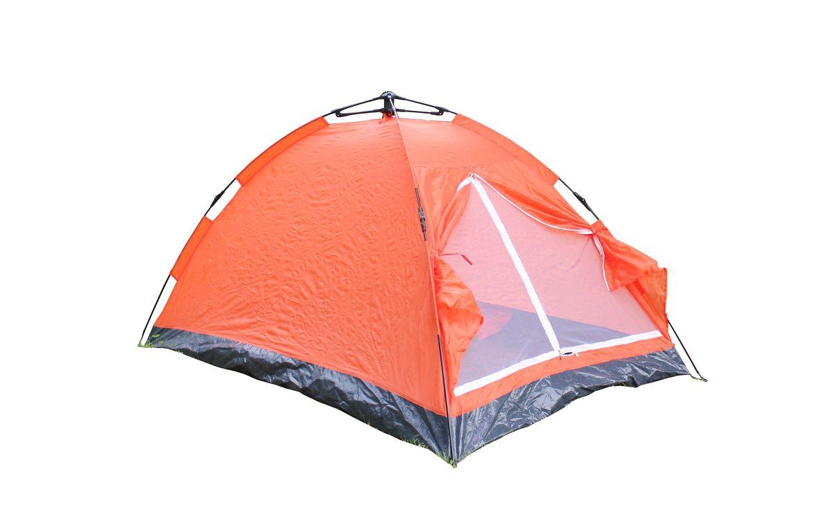 Палатка Reka, 2-местная, цвет: оранжевыйTK-174AДвухместная палатка Reka отлично подойдет для кемпинга и похода. Каркас выполнен из фибергласса, тент из полиэстера. Палатка раскладывается в течение 5 секунд.Размер: 200 х 125 х 110 см.Материал тента: 170 T полиэстер, PA 350мм.Вес: 1,9 кг.
