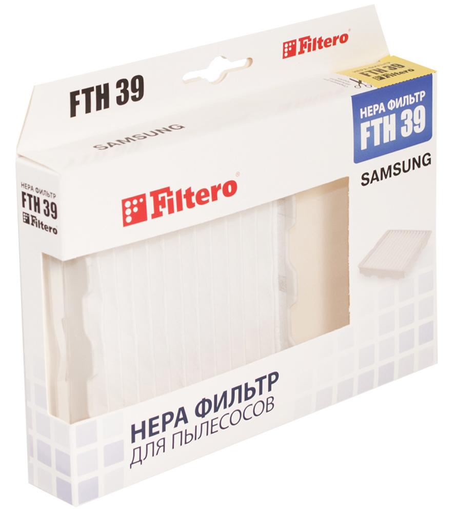 Filtero FTH 39 фильтр для пылесосов SamsungFTH 39Немоющийся фильтр Filtero FTH 05 имеет уровень фильтрации НЕРА Н 10. Он препятствует выходу мельчайшихчастиц пыли и аллергенов из пылесоса в помещение. Подлежит замене, согласно рекомендации производителяпылесосов - не реже одного раза за 6 месяцев.