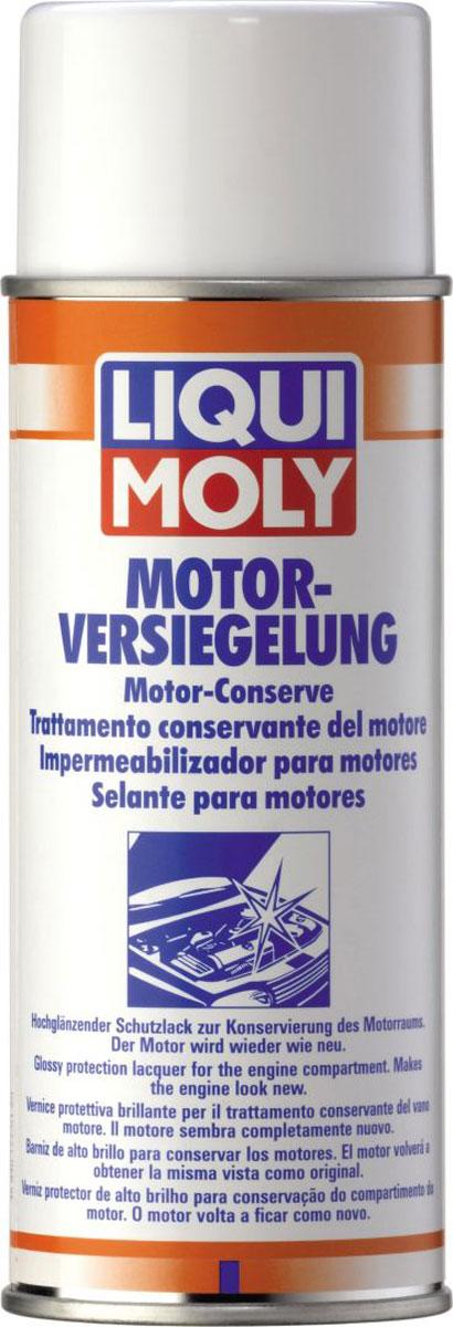 Спрей для внешней консервации двигателя Liqui Moly Motor-Versiegelung, 0,4 л3327Спрей Liqui Moly Motor-Versiegelung придает обработанным поверхностям двигателя и моторного отсека вид новых на длительное время. Эффективно отталкивает воду, предупреждая её попадание в электрические компоненты автомобиля. Отталкивает пыль, сохраняет чистоту моторного отсека.Предотвращает коррозию.Образует водоотталкивающую защитную пленку.Защищает поверхности от ржавчины.Нейтрально к пластикам и резине.Придает отличный внешний вид обработанным поверхностям.Не содержит хлорированных углеводородов.Применим при высоких температурах, характерных для моторного отсека и двигателя.Товар сертифицирован.