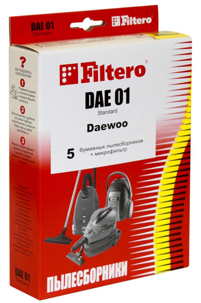 Filtero DAE 01 Standard мешок-пылесборник, 5 штDAE 01 StandardБумажные пылесборники Filtero DAE 01 Standard- оптимальный вариант по удобству, эффективности, соотношению цена и качество для использования в пылесосе. В отличие от используемых иногда матерчатых пылесборников, бумажные пылесборники обеспечивают гораздо более высокую степень очистки. Бумажные пылесборники Filtero способны задерживать микрочастицы размером всего в 1 микрон, в то время как в матерчатых мешках остается только пыль размером в 40-100 микрон. Это значит, что эффективность использования бумажного пылесборника Filtero более чем в 40 раз выше! Высокое качество фильтрации обеспечивает удерживание в пылесборнике шерсти домашних животных, пылевых клещей, плесени. Это позволяет значительно снизить аллергические реакции на пыль. Бумажные пылесборники Filtero гигиеничны и удобны в использовании. Их не надо вытряхивать - достаточно извлечь пылесборник из пылесоса и просто выбросить. Бумажные пылесборники Filtero (Фильтеро) соответствуют европейским гигиеническим нормам и обеспечивают высокую степень очистки, задерживая не менее 99% пыли. Пылесборники Filtero снабжены специальными клапанами, препятствующими попаданию пыли в ваши легкие при извлечении наполненного мешка из пылесоса. Бумажные пылесборники не уменьшают силу всасывания пылесоса. Во время работы пылесоса волокна пылесборника улавливают микропыль, не пропуская ее в моторный отсек. Бумажные пылесборники надежно защитят ваш пылесос от преждевременного износа.Пылесборники подходят для следующих моделей пылесосов:DAEWOORC 103, 105 - 109, 160, 161, 170 - 173, 190 - 193RC 202, 205 D, 209 D, 210 K, 405 K -407, 450RC 550, 605 K - 609 K, 705 D, 707, 805 ARC 1504, 2006 GD, SV, 2500 SV, 5001 R,S, 7001 BRC 7004 F, 8200 B, R, 8600 NG, RCP 1000 GALPINASF 2201 rabbit, SF 2204 mars, SF 2214 rasputinAKIRA VC-R 1204BEKOBKS 1207, BKS 9530DE LONGHIQZ 11b, XTRC 135, 140 E, 150 E, XTXS 160, 165 EELEKTAEVC 1620, 1700, 1745, 1760EVGOEVC 2840, 3012, 4090, 4530, 4540EL