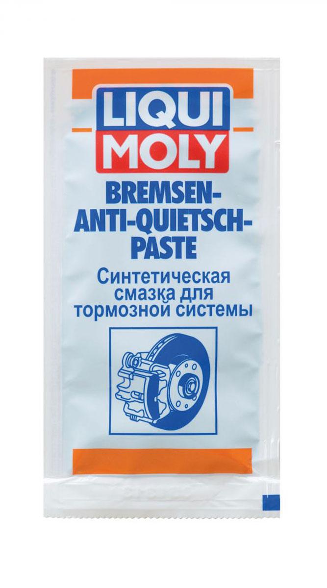 Смазка синтетическая Liqui Moly Bremsen-Anti-Quietsch-Paste, для тормозной системы, 10 г высокотемпературная смазка для подшипников купить
