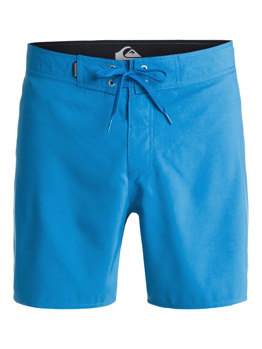 Шорты мужские Quiksilver, цвет: синий. EQYBS03253-BNC0. Размер 28 (44)EQYBS03253-BNC0Мужские шорты Quiksilver выполнены из полиэстера и дополнены внутренними несъёмными трусами-слипами из полиэстера. Модель по поясу завязывается шнурком и имеет гульфик на липучках. Сзади расположен накладной карман с клапаном на липучке. Оформлена модель фирменными нашивками и вышиты названием бренда.