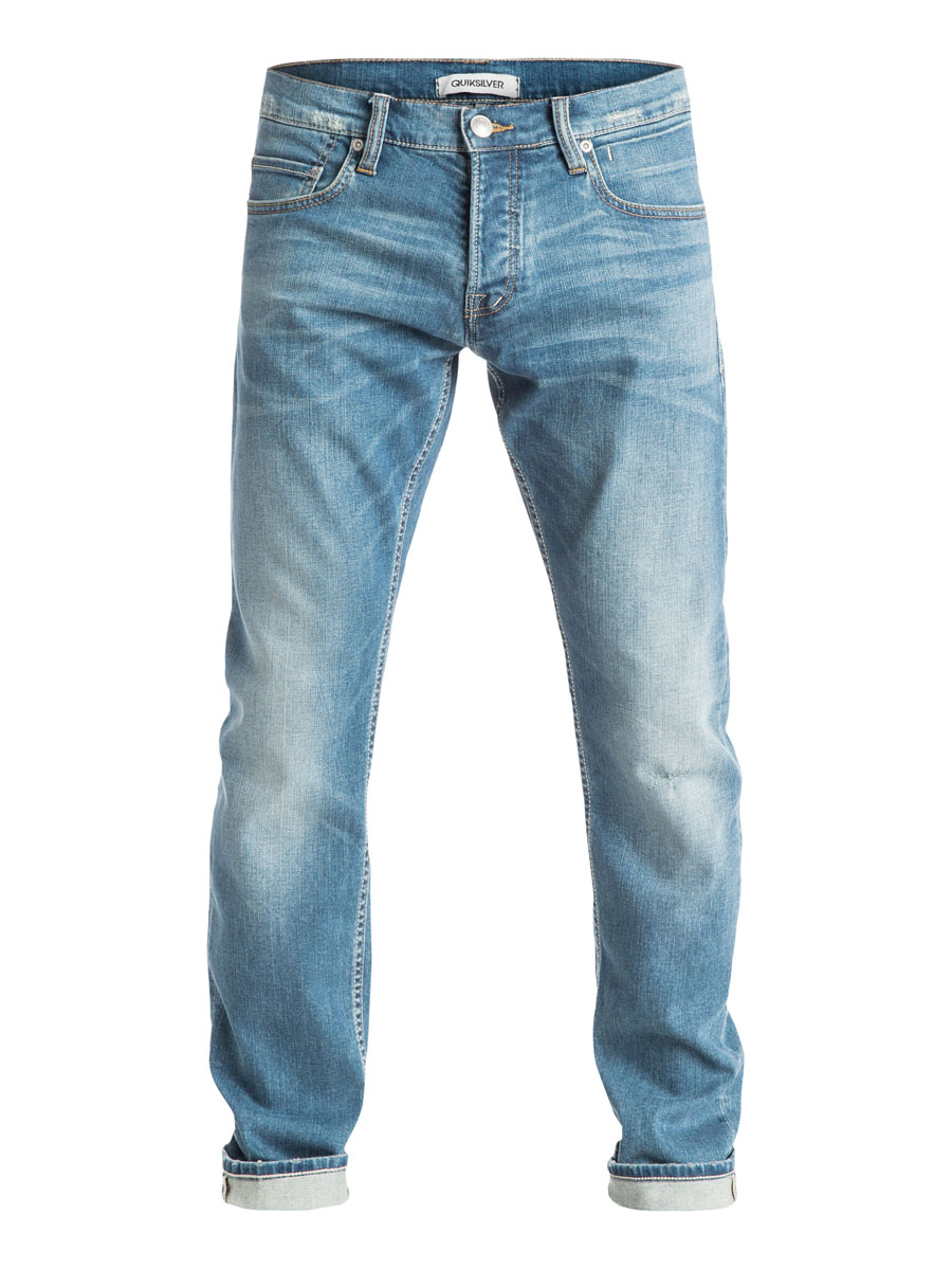 Джинсы мужские Quiksilver, цвет: голубой. EQYDP03182-BEZW. Размер 28-32 (44-32)EQYDP03182-BEZWСтильные мужские джинсы Quiksilver изготовлены из эластичного хлопка. Модель застегивается на пуговицу и ширинку на застежках-пуговицах, имеются шлевки для ремня. Спереди модель оформлена тремя врезными карманами и одним секретными кармашком, а сзади - двумя накладными карманами.