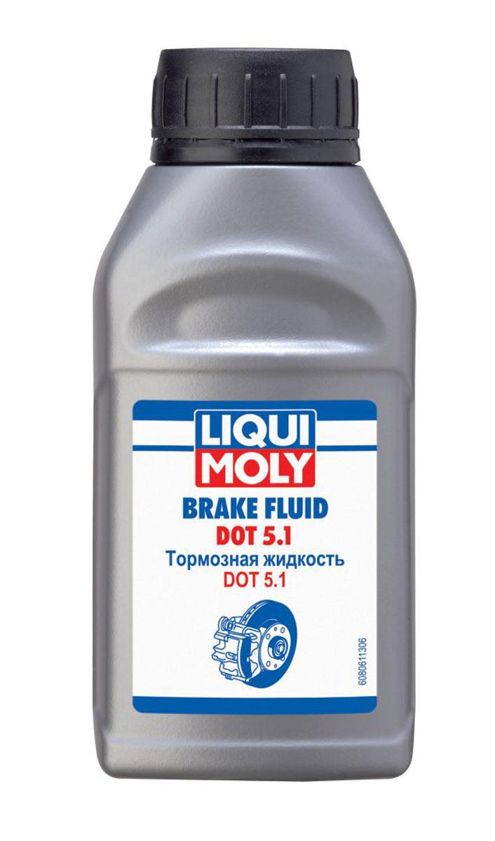 Жидкость тормозная LiquiMoly Brake Fluid DOT 5.1, 0,25 л стабилизатор бензина liquimoly motorbike benzin stabilisator 0 25 л