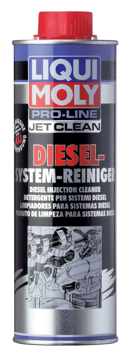 Жидкость для очистки дизельных топливных систем Liqui Moly Pro-Line JetClean Diesel-System-Reiniger, 0,5 л5154Liqui Moly Pro-Line JetClean Diesel-System-Reiniger - это высокоэффективное соединение с присадками для чистки и ухода, предназначенное для быстрой очистки мешающих отложений в топливной системе дизельных двигателей при помощи профессионального аппарата JetClean-Gerat. Специальные присадки обеспечивают защиту от коррозии и повышают воспламеняемость. Снижает содержание СО и СН в выхлопе и уменьшает дымность. Жидкость прошла испытания на соответствие международным нормам. Очищает форсунки и топливную систему в целом от образовавшихся отложений. Устраняет закоксовку колец, поднимает компрессию. Предотвращает образование нагара и отложений на иглах форсунок. Оптимизирует процесс сгорания, таким образом, двигатель снова приобретает мощность и приемистость.Очищает дизельные топливные системыУдаляет отложения на впрыскивающих форсункахПовышает воспламеняемость дизельного топливаПредотвращает детонацию при неполной нагрузкеОбладает антикоррозионным действиемОбеспечивает оптимальное сжиганиеСнижает выброс вредных веществПовышает экономичность и эксплуатационную надежностьОбеспечивает быстрое устранение проблем.Основа: присадки/несущая жидкость.Товар сертифицирован.