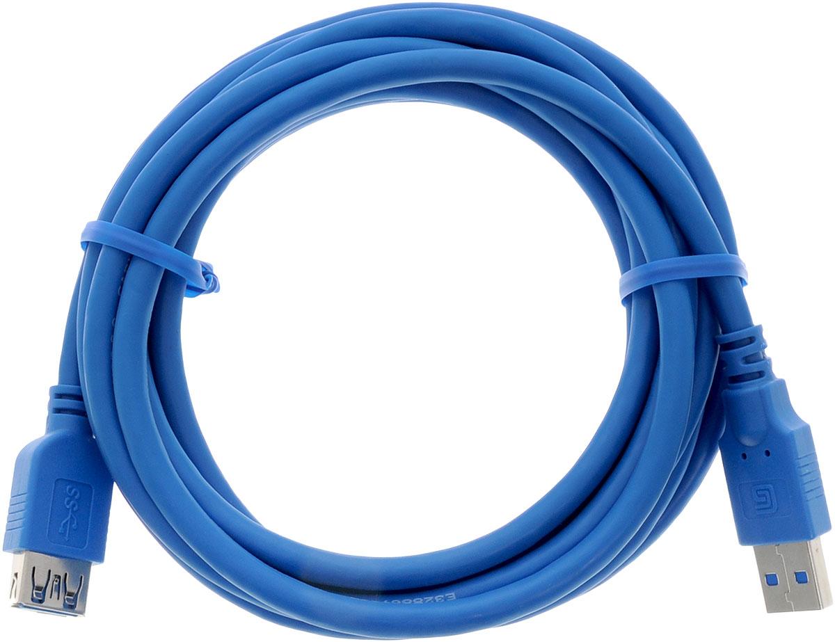 Greenconnect Premium GC-U3A02, Blue кабель-удлинитель 3 мGC-U3A02-3mКабель-удлинитель Greenconnect Premium GC-U3A02 позволит увеличить расстояние до подключаемого устройства. Может быть использован с различными USB девайсами. Кабель имеет двойное экранирование (сочетание фольгированной и общей оплетки), что позволяет защитить сигнал при передаче от влияния внешних полей, способных создать помехи.Скорость передачи данных: до 5 Гбит Обратная совместимость с USB 2.0/1.1Тип оболочки: PVC (ПВХ)