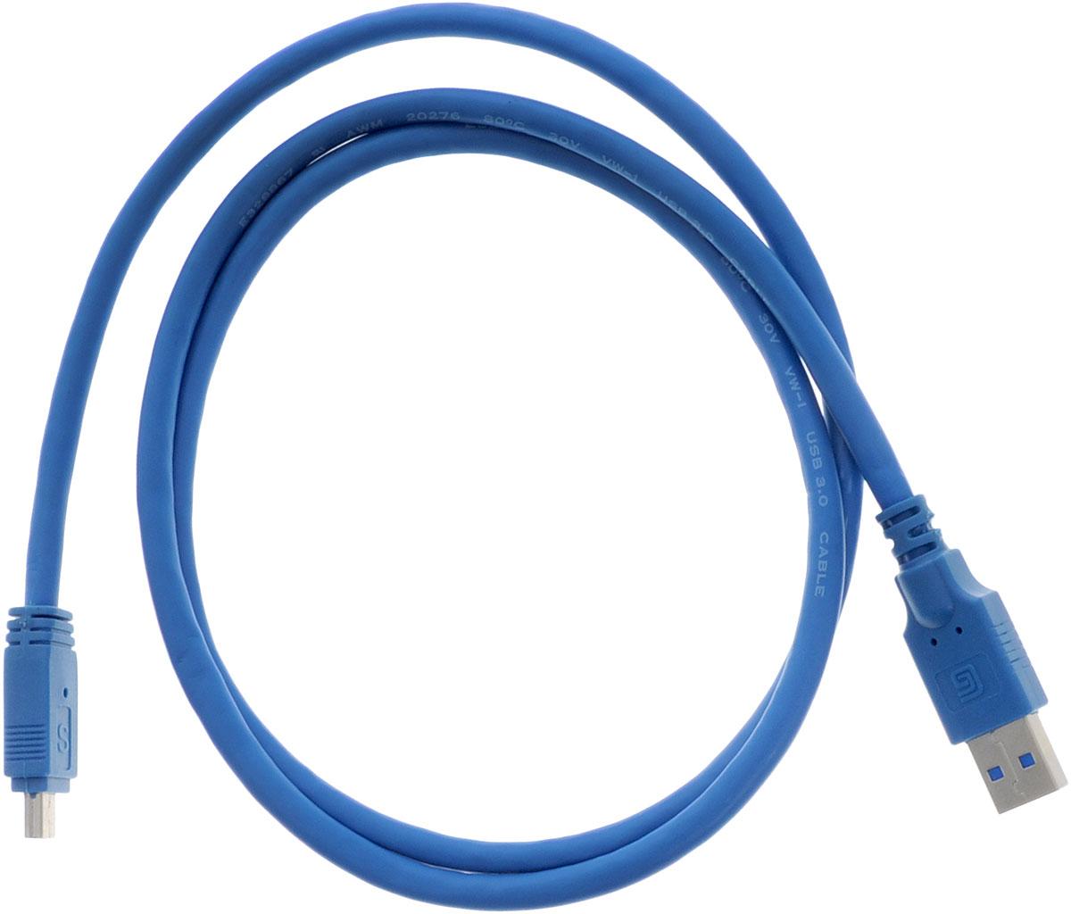 Greenconnect Premium GC-U3A2109, Blue кабель miniUSB 3.0-USB 3.0 (1 м)GC-U3A2109-1mКабель Greenconnect Premium GC-U3A2109 позволяет подключать мобильные устройства, которые имеют разъем miniUSB к USB разъему компьютера. Подходит для повседневных задач, таких как синхронизация данных и передача файлов. Кабель имеет двойное экранирование (сочетание фольгированной и общей оплетки), что позволяет защитить сигнал при передаче от влияния внешних полей, способных создать помехи.Скорость передачи данных: до 5 ГбитОбратная совместимость с USB 2.0/1.1Тип оболочки: PVC (ПВХ)