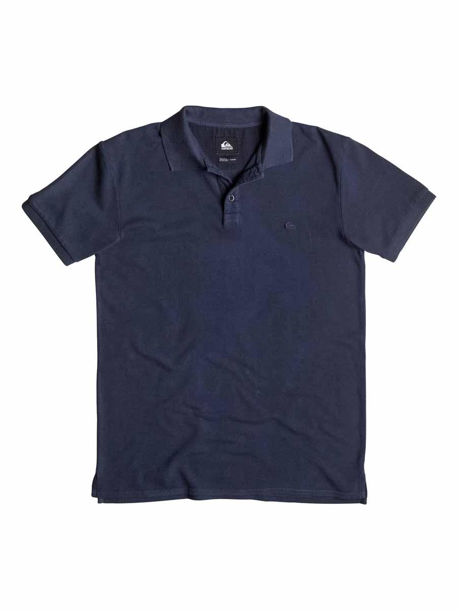 Поло мужское Quiksilver, цвет: голубой. EQYKT03302-BYJ0. Размер S (44/46)EQYKT03302-BYJ0Стильная мужская футболка-поло Quiksilver выполненная из высококачественного хлопка, обладает высокой теплопроводностью, воздухопроницаемостью и гигроскопичностью, позволяет коже дышать.Модель с короткими рукавами и отложным воротником. Футболка-поло застегивается на две пуговицы. Воротник и низ рукавов выполнены из трикотажной резинки. Модель оформлена на груди небольшой вышивкой.