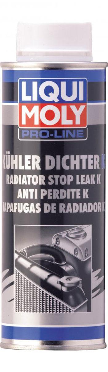 Герметик системы охлаждения LiquiMoly Pro-Line Kuhlerdichter K, 0,25 л2294Профессиональное концентрированное средство для восстановления герметичности системы охлаждения двигателя. Оптимальная емкость для грузовых автомобилей. Подходит для всех систем охлаждения и нагрева. Герметизирует небольшие места утечек в радиаторе, пористость металла в местах пайки, волосяные трещины. Средство пригодно для систем с водяными фильтрами.