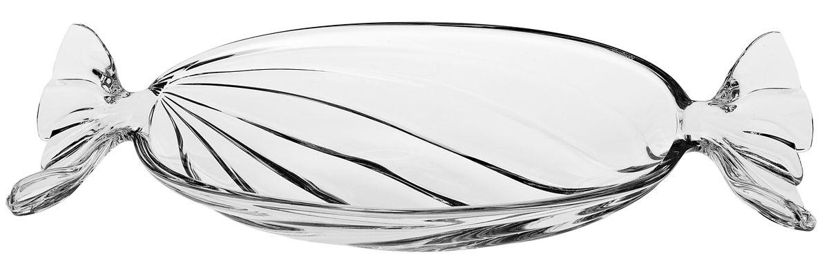 Салатник Crystal Bohemia Bonbon, длина 34,5 см990/62901/0/59000/345-109Салатник Crystal Bohemia выполнен из прочного высококачественного хрусталя. Он излучает приятный блеск и издает мелодичный звон. Салатник в виде конфеты сочетает в себе изысканный дизайн с максимальной функциональностью. Салатник не только украсит стол и подчеркнет ваш прекрасный вкус, но и станет отличным подарком.Длина: 34,5 см.