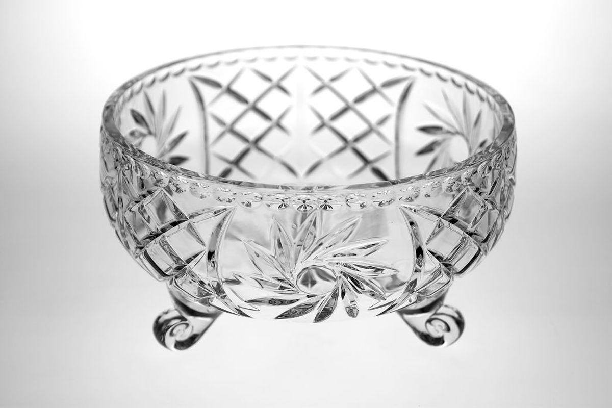 """Салатник на ножке """"Crystal Bohemia"""", диаметр 25 см"""