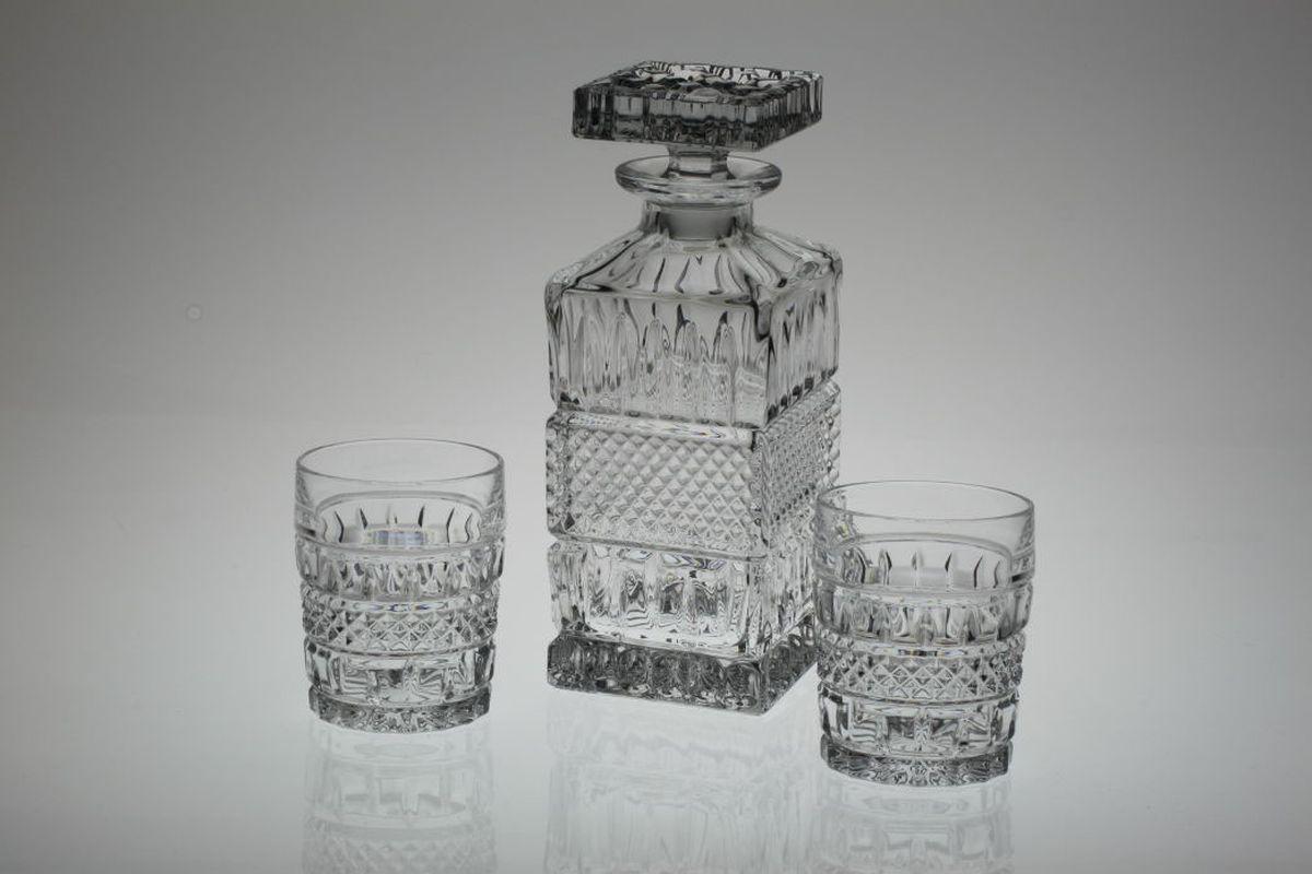 Набор для виски Crystal Bohemia, 7 предметов. 990/99999/9/10300/011-709 набор стаканов для виски crystal bohemia 320 мл 6 шт