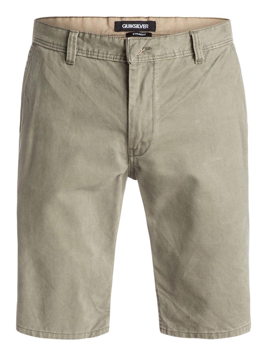 Бермуды мужские Quiksilver, цвет: хаки. EQYWS03163-GPB0. Размер 29 (44/46)EQYWS03163-GPB0Стильные мужские шорты Quiksilver выполнены из натурального хлопка. Модельпрямого покроя с ширинкой на застежке-молнии на талии застегивается напуговицу, имеются шлевки для ремня. Спереди шорты дополнены двумя втачнымикарманами с косыми краями, сзади имеются два прорезных кармана с клапанами на пуговицах.