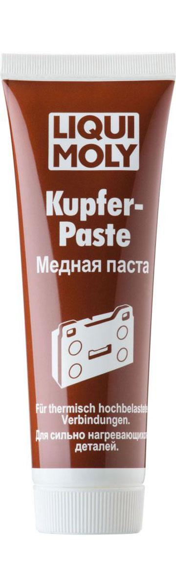 Паста медная Liqui Moly Kupfer-Paste, 0,1 л7579Liqui Moly Kupfer-Paste применяется для обработки тыльной стороны тормозных колодок, свечей зажигания, деталей системы выхлопа и резьбовых соединений, работающих под действием высокой температуры (до 1100°С) и нагрузки. Предотвращает коррозию и заедание перечисленных деталей, а также прикипание шпилек выпускного коллектора, колесных болтов и т. п. Облегчает разборку механизма после длительной эксплуатации.Особенности:Обладает высокой температурной стойкостью.Имеет очень высокую адгезию, и прочность при действии центробежных нагрузок.Показывает высокую стойкость к воздействию соленой и горячей воды, в том числе под давлением.Противодействует передаче колебаний и возникновению посторонних звуков.Обеспечивает защиту поверхности контакта от образования коррозии.Выдерживает высокое давление.Надежно смазывает и разделяет трущиеся детали.Медная паста универсальна в применении.Основа:минеральное масло и Li-12 гидрооксистеарат.Товар сертифицирован.