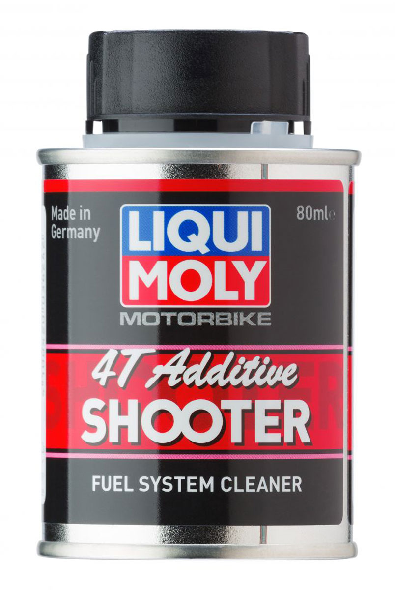 Очиститель топливной системы LiquiMoly Motorbike 4T Additiv Shooter , 0,08 л присадка в бензин liqui moly 3040 motorbike speed additiv 0 15л