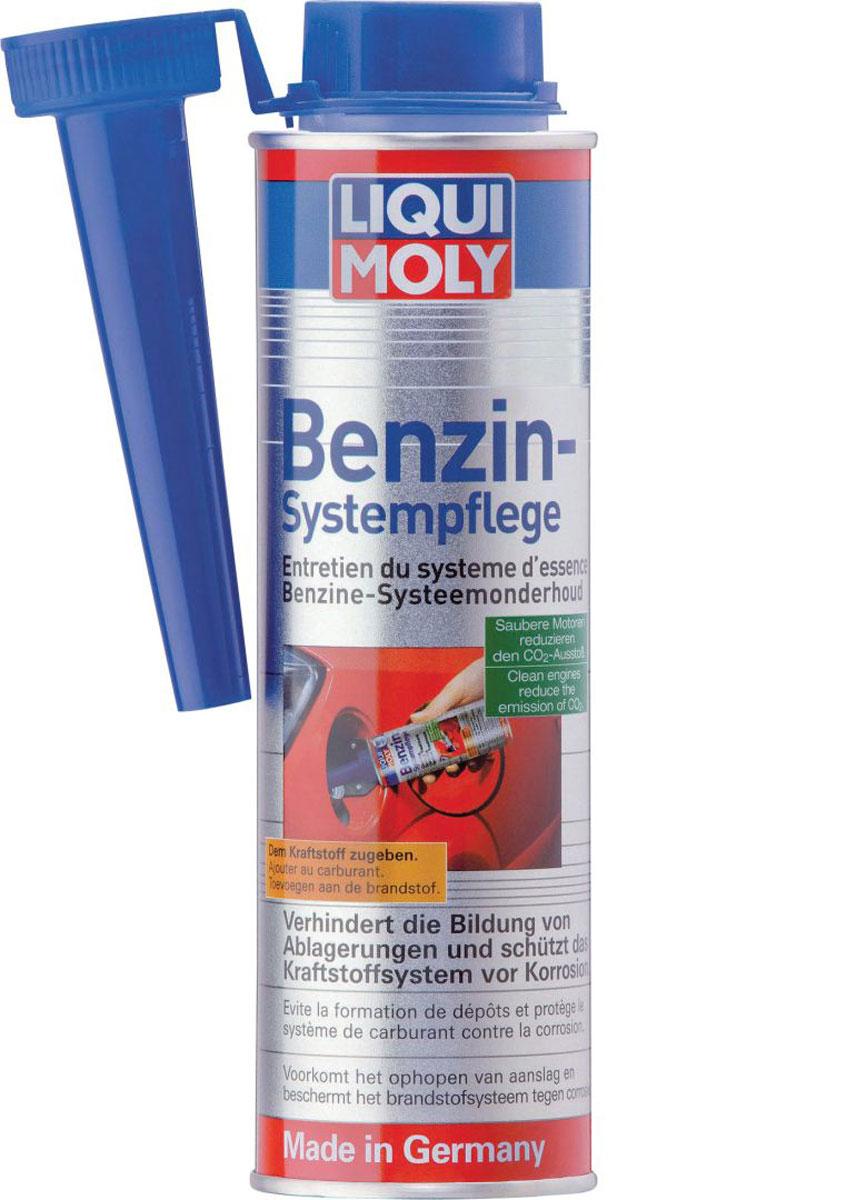 Присадка Liqui Moly Benzin-System-Pflege, для ухода за бензиновой системой впрыска, 0,3 л стабилизатор бензина liquimoly motorbike benzin stabilisator 0 25 л