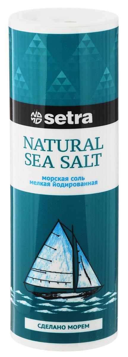 Setra соль морская мелкая йодированная, 250 г 4life соль морская крупная йодированная в мельнице 165 г