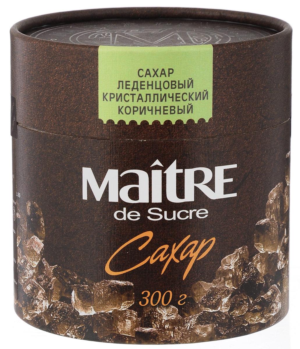 Maitre de Sucre сахар леденцовый коричневый кристаллический, 300 г maitre сахар леденцовый кристаллический прозрачный 800 г