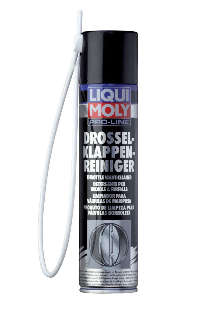 Очиститель дроссельных заслонок Liqui Moly Pro-Line Drosselklappen-Reiniger, 0,4 л7578Liqui Moly Pro-Line Drosselklappen-Reiniger - это специальное активное растворяющее средство для очистки типичных загрязнений, нагаров и отложений в области впуска и дроссельных заслонок в автомобилях с бензиновыми двигателями. Растворяет и удаляет все масляные отложения и загрязнения, как например, масло, смола, клей и другие. Также надежно очищает инжекторы и внутренние детали. Обеспечивает функциональность и подвижность деталей, уменьшает расход топлива. Только для бензиновых двигателей!Особенности:Быстрая и эффективная очистка.Процесс очистки не требует демонтажа.Просто и экономично в применении.Совместимо с катализаторами.Зонд с распылителем в комплекте.Основа: смесь растворителя.Товар сертифицирован.