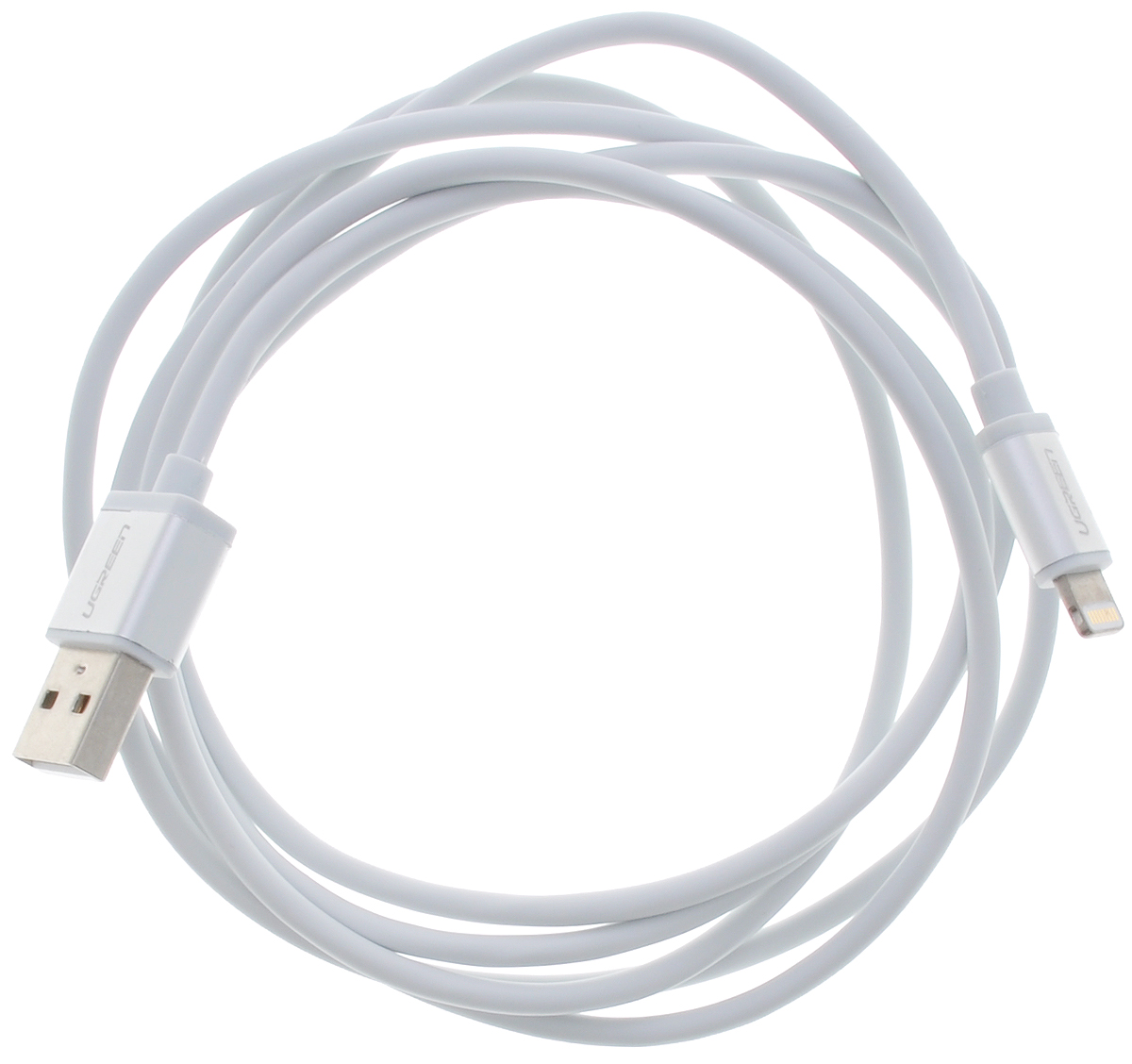 Фото Ugreen UG-10812, White Silver кабель-переходник USB 1 м