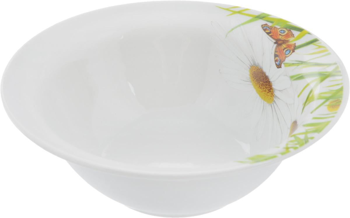 """Оригинальная миска """"Идиллия. Ромашка"""", изготовленная из высококачественного фарфора, декорирована красочным изображением цветов. Такая миска украсит сервировку вашего стола и подчеркнет прекрасный вкус хозяина, а также станет отличным подарком."""