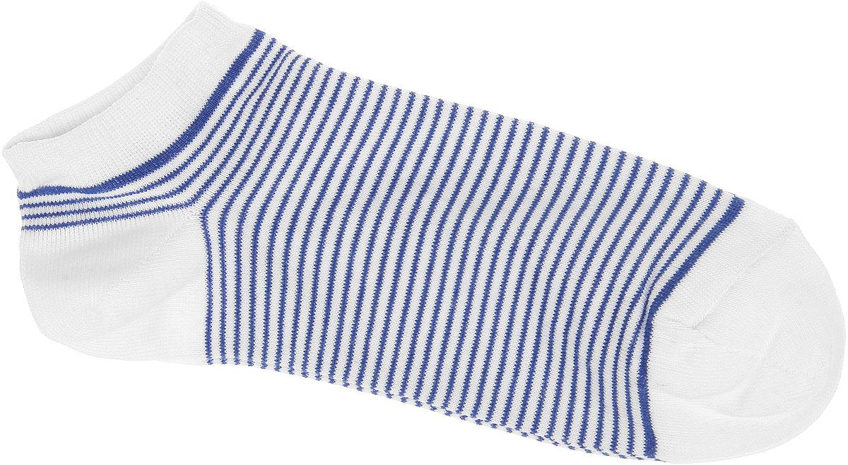 Носки женские Alla Buone, цвет: белый. CD014. Размер 25 (38-40)CD014Удобные носки Alla Buone, изготовленные из высококачественного комбинированного материала, очень мягкие и приятные на ощупь, позволяют коже дышать. Эластичная резинка плотно облегает ногу, не сдавливая ее, обеспечивая комфорт и удобство. Модель с укороченным паголенком, оформлена принтом в полоску. Практичные и комфортные носки великолепно подойдут к любой вашей обуви.