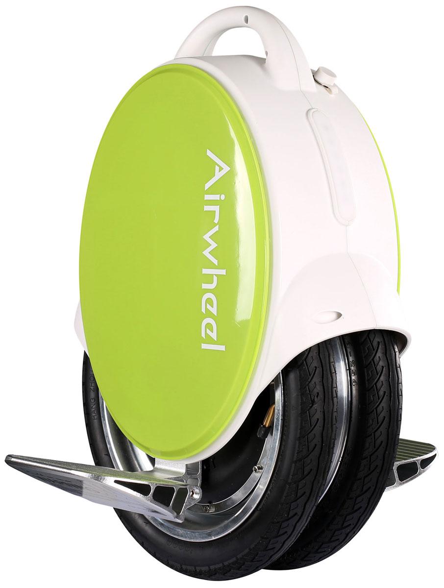 Airwheel Q5, White Green двухколесный гироцикл (батарея Panasonic 170 Вт/ч)AIRWHEEL Q5-170WH-WHITE-GREENКомпактное моноколесо со сдвоенной колесной конструкцией и диаметром 14 дюймов.Двойное колесоЗащита от пыли и влагиИндикатор зарядаРучка для переноски170WHМатериал корпуса: Металл; Пластик