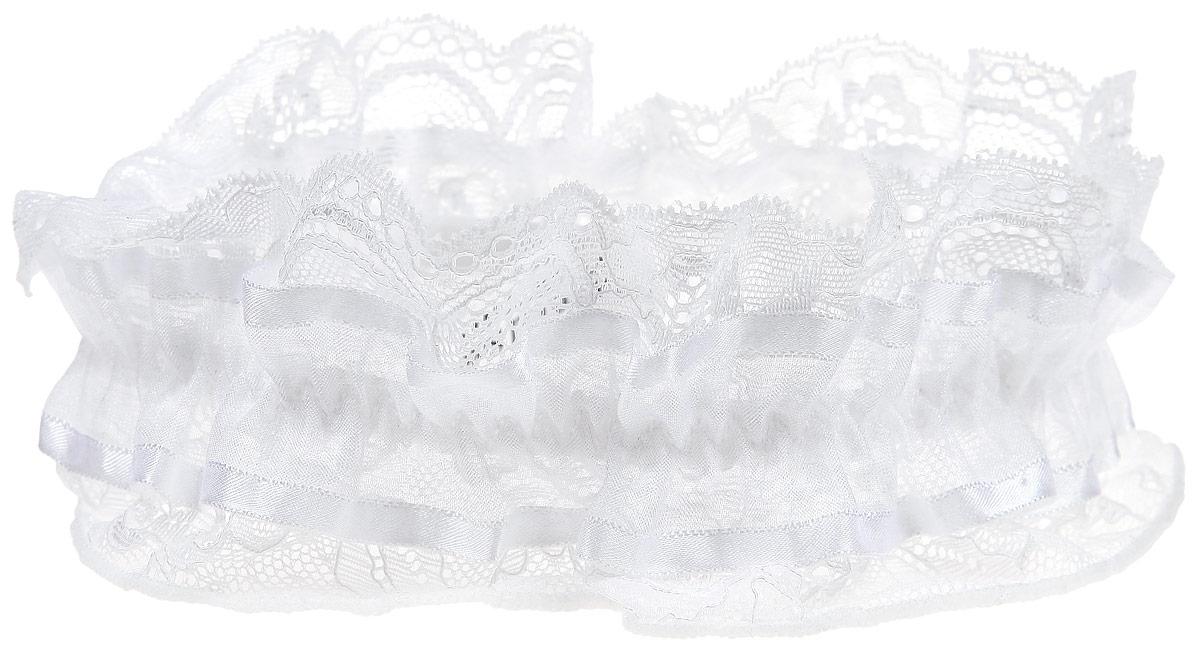 Подвязка Luce Del Sole, цвет: белый. 1291. Размер универсальный1291Подвязка Luce Del Sole - соблазнительный и нежный аксессуар женского белья и обязательный атрибут свадебного гардероба. Воздушная подвязка на эластичной резинке выполнена из высококачественного материала и кружева, которое обволакивает, словно легкая музыка. Необычный дизайн объединяет в себе женственность цветочного узора, изысканные геометрические мотивы, легкий блеск и мягкость невесомого материала.