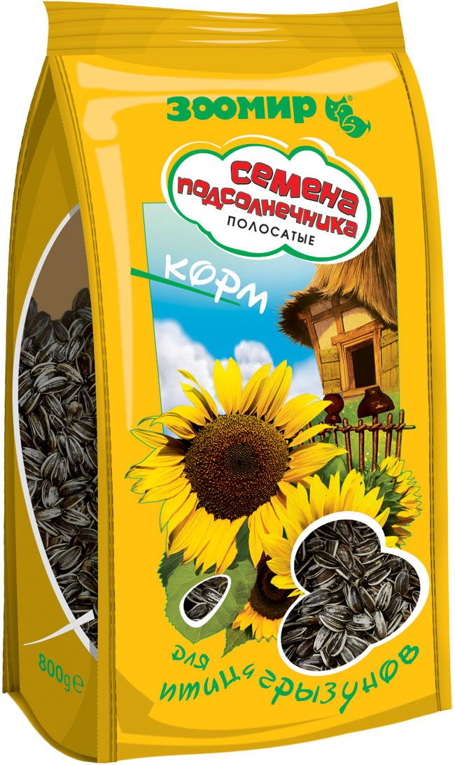 Корм для птиц и грызунов Зоомир Семена подсолнечника полосатые, 500 г болезни декоративных птиц