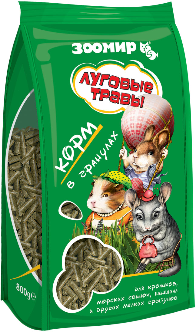 "Корм для грызунов Зоомир ""Луговые Травы"", 800 г"