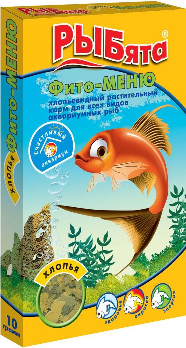 Корм для аквариумных рыб РЫБята Фито-Меню, хлопья, 10 г мука пшеничная обойная пудов