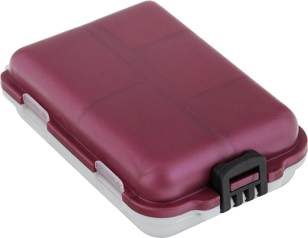 """Удобная пластиковая коробка """"Три кита"""" прекрасно подойдет для  хранения и  транспортировки различных мелочей: рыболовных снастей, мелких  бусин,  аксессуаров для рукоделия и многого другого. Коробка имеет 10  фиксированных  секций, каждая из которых закрывается прозрачной крышечкой.  Удобный замок обеспечивает надежное закрывание коробки. Такая  коробка  поможет хранить мелкие вещи в  порядке. Размер секций: 4 х 2,5 см; 3 х 2,5 см; 2,5 х 2,5 см."""