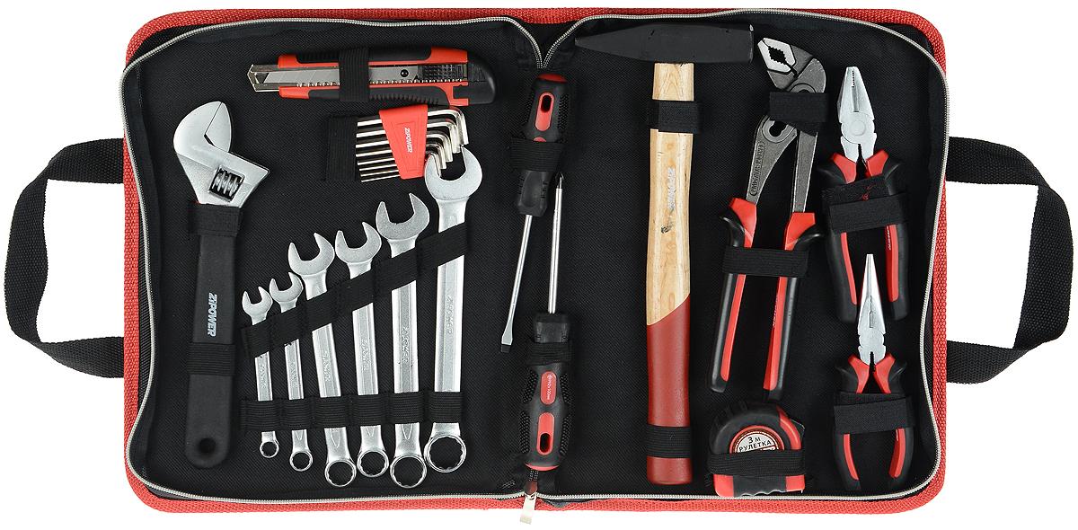 Набор инструментов Zipower, 23 предмета ключ комбинированный kraft 14 мм кт 700508