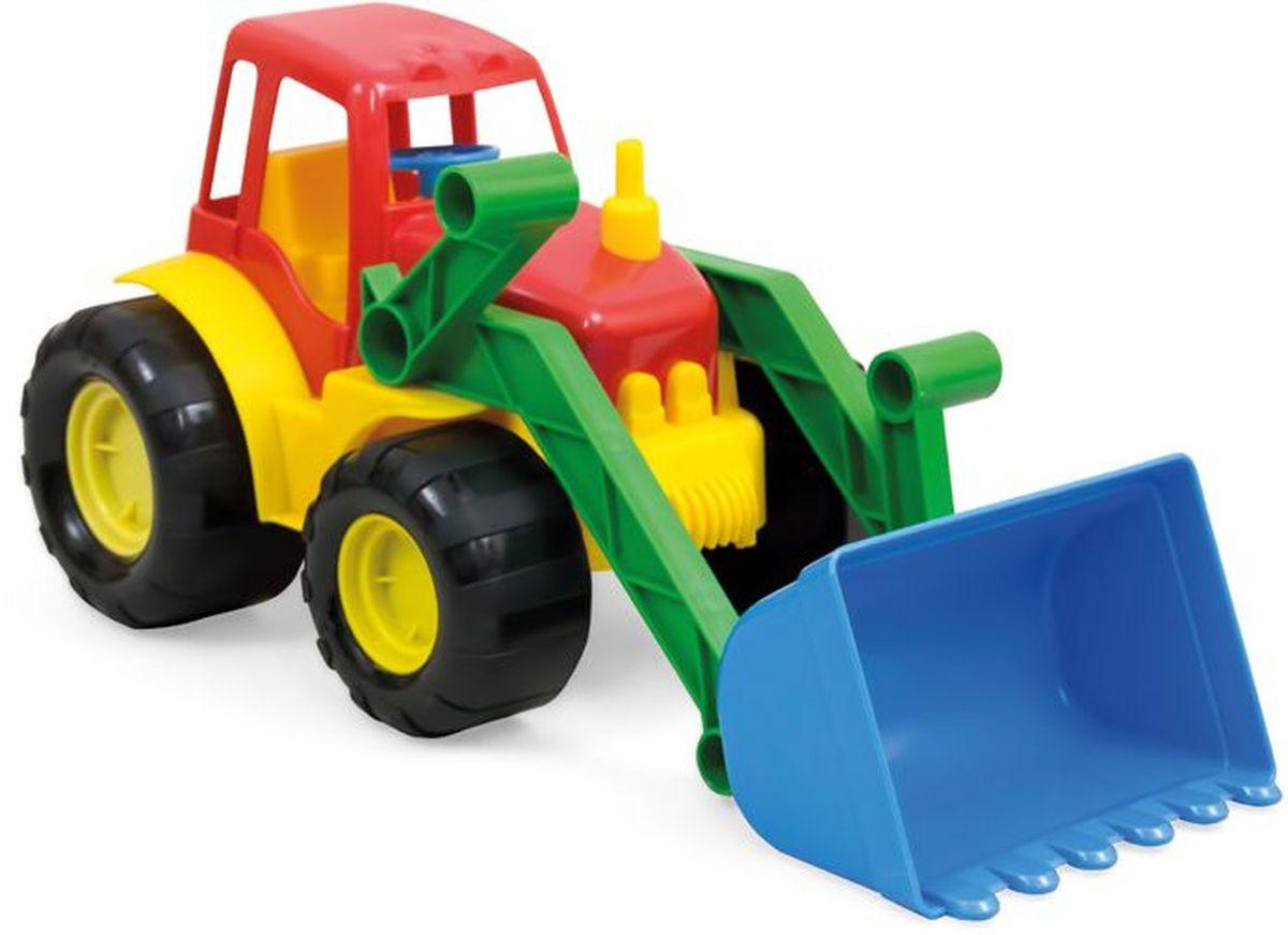 Zebratoys Трактор с ковшом цвет красный желтый синий трактор tomy john deere зеленый 19 см с большими колесами звук свет