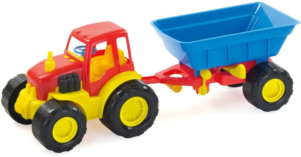 Zebratoys Трактор с прицепом цвет красный синий машина zebratoys трактор с прицепом active 15 5229