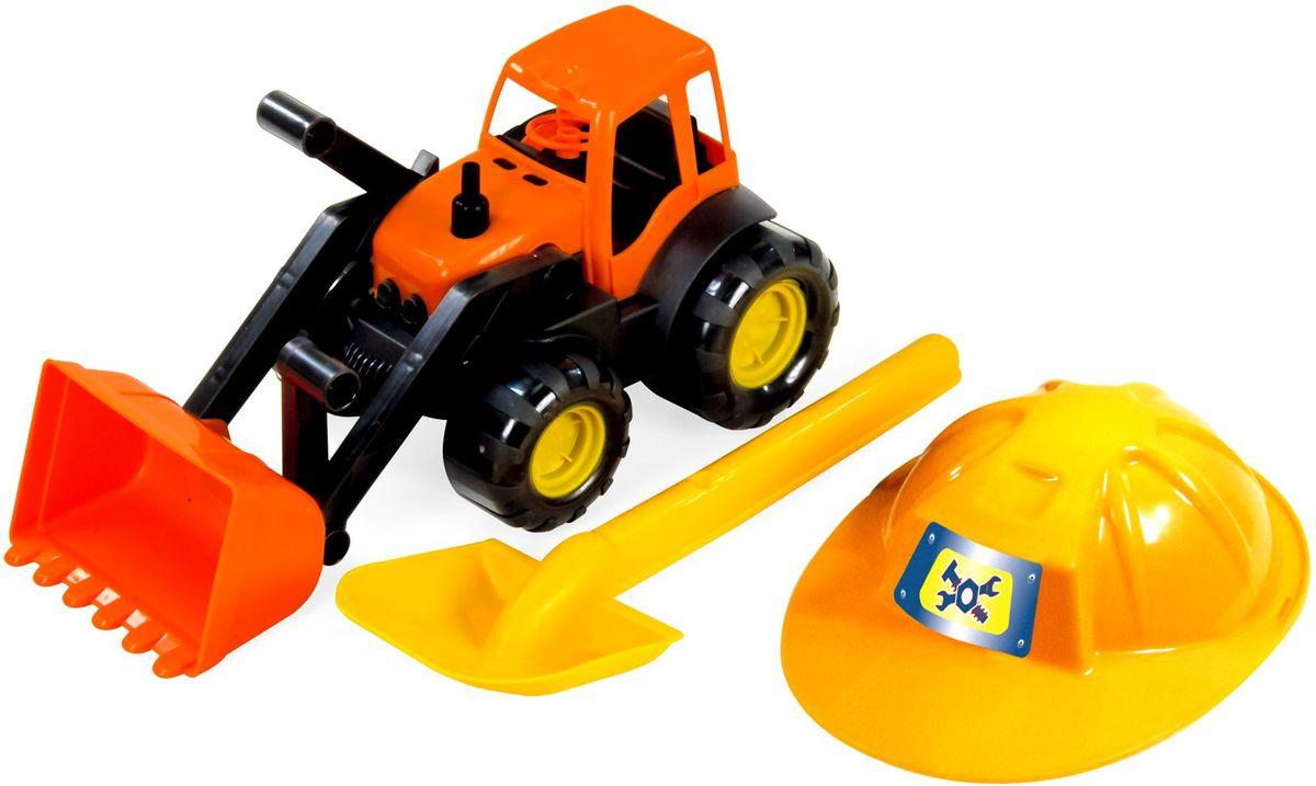 Zebratoys Трактор c каской и лопатой игрушки для зимы veld co трактор c каской и лопатой 47047