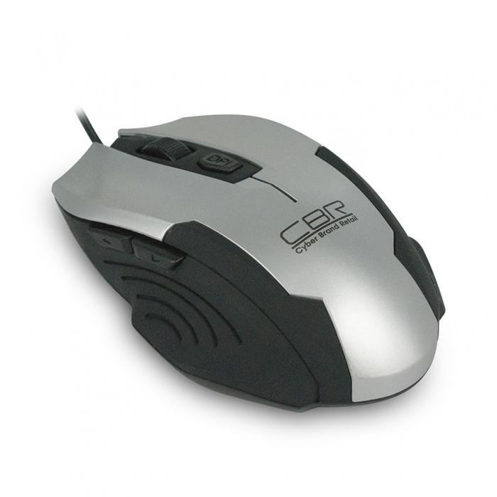 CBR CM 333, Silver Black мышь