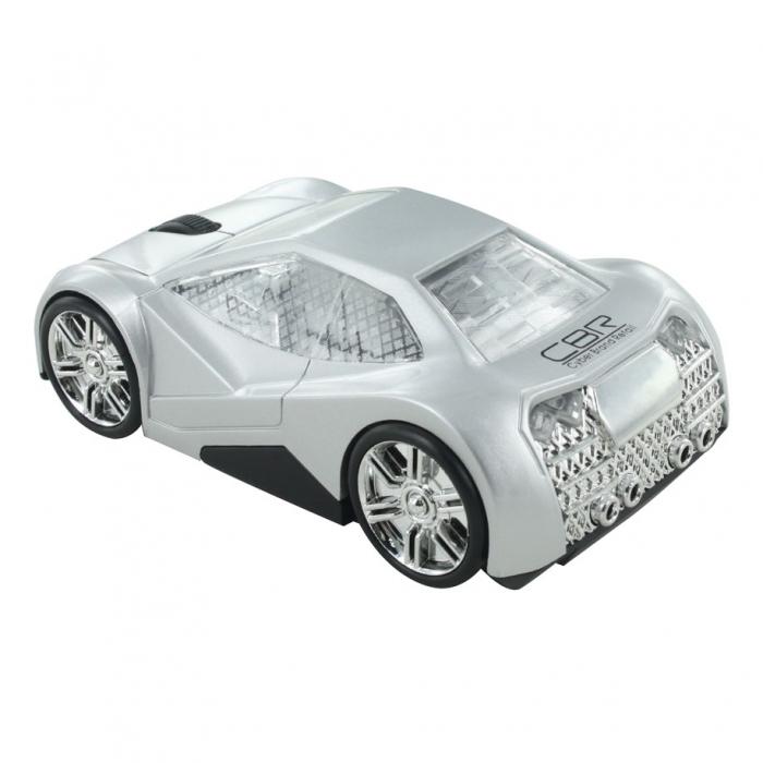 CBR MF 500 Elegance, Silver мышьMF 500 Elegance SilverМодель CBR MF 500 Elegance покорит ваше сердце своими четкими линиями, глянцевой поверхностью и необычным дизайном. Корпус автомобиля выполнен в футуристическом дизайне.Хромированные диски, узор на стеклах, обширные фары, серебристый салон и брутальный багажник - эта модель создана для решительных и динамичных людей. Управлять такой красивой мышью особенно приятно и главное - удобно. Модель имеет приятный размер, который подойдет для ладони любого размера. Как и всякая современная компьютерная мышь, оптическая мышь CBR MF 500 Elegance оснащена колесиком прокрутки и не требует драйверов при подключении к компьютеру. Модель имитирует движение автомобиля за счет подвижных колес и отсутствия проводов. Оптический сенсор и разрешение в 1000 dpi обеспечивают хорошей скоростью и точностью отклика.