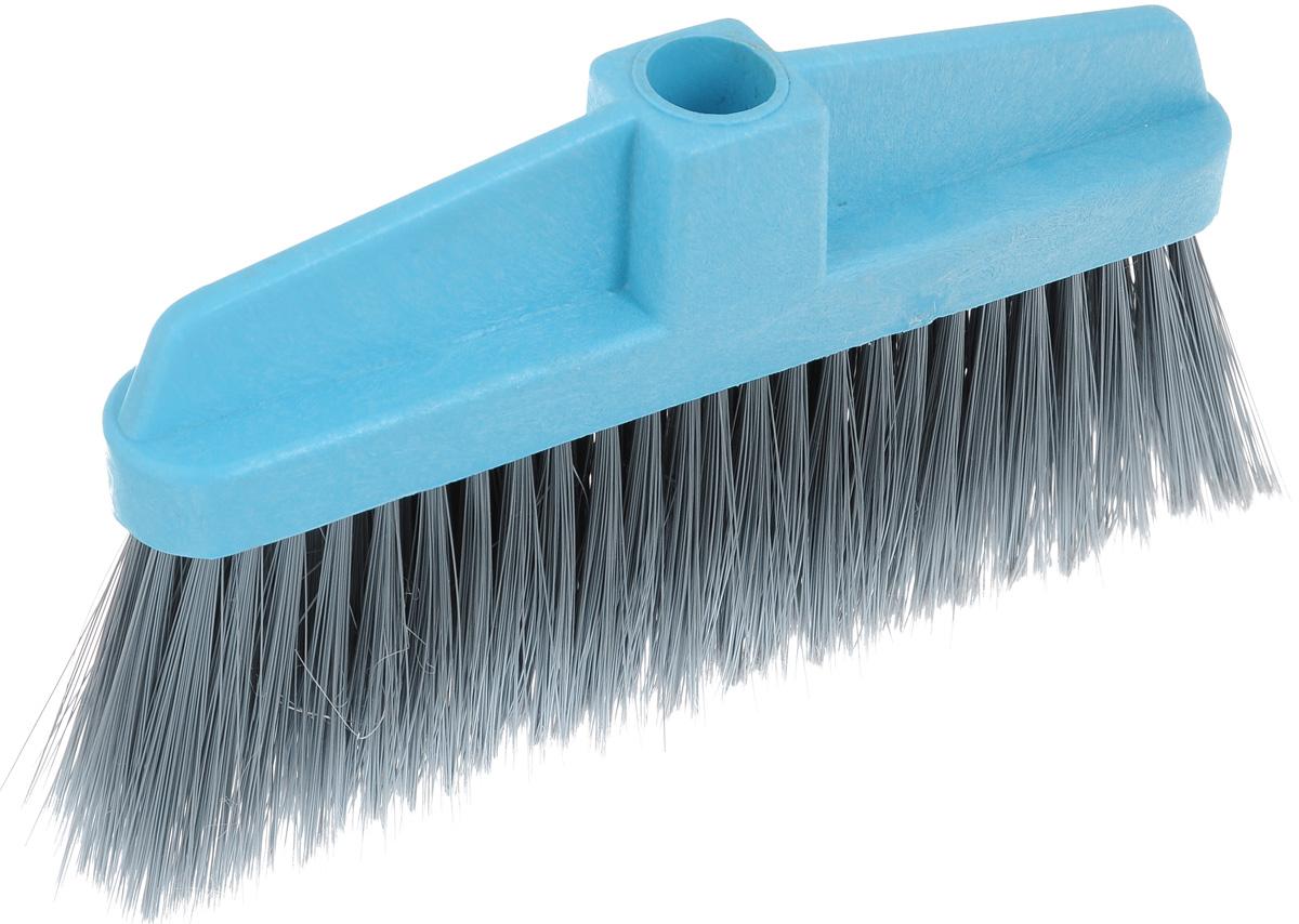 Щетка-насадка для пола Мир чистоты, цвет: серый, голубой. SP003SP003Щетка-насадка для пола Мир чистоты, изготовленная из ПВХ (поливинилхлорид), полипропилена и полиэтилена, предназначена для уборки сухого мусора. Изделие оснащено универсальной резьбой, которая подходит ко всем видам ручек. Упругий, мягкий и длинный ворс максимально быстро без лишних усилий позволит собрать мусор из самых труднодоступных мест. Размер щетки: 26 х 4 х 15 см. Длина ворса: 9 см. Диаметр отверстия для черенка: 2,2 см.