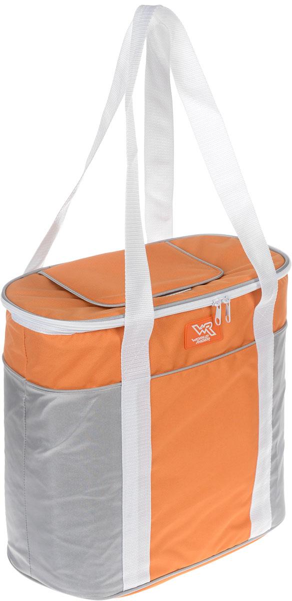 Сумка-холодильник World Rider, цвет: серый, оранжевый, 22 лWR 6516Сумка-холодильник World Rider длительное время сохраняет продукты в свежем состоянии, поддерживает температуру на нужном уровне. Обеспечивает разницу температур 10–12 °С по отношению к температуре окружающей среды. Идеально подходит для поездки на дачу и на пикник. Сумка выполнена из прочного текстиля, изоляция из полиуретановой пены. Система охлаждения съемная. Изделие обладает стильным дизайном. Прочные ручки обеспечивают удобную транспортировку сумки. Бесколлекторный мотор имеет долгий срок эксплуатации. В сумке используется самая последняя технология Пельтье (нагрев или охлаждение металлических пластин при прохождении через них тока определенной полярности). Благодаря толстому литому термоизоляционному слою, продукты и напитки в течение длительного времени будут оставаться свежими без подвода электроэнергии. Напряжение: DC 12 В. Потребляемая мощность: 48–65 Вт.