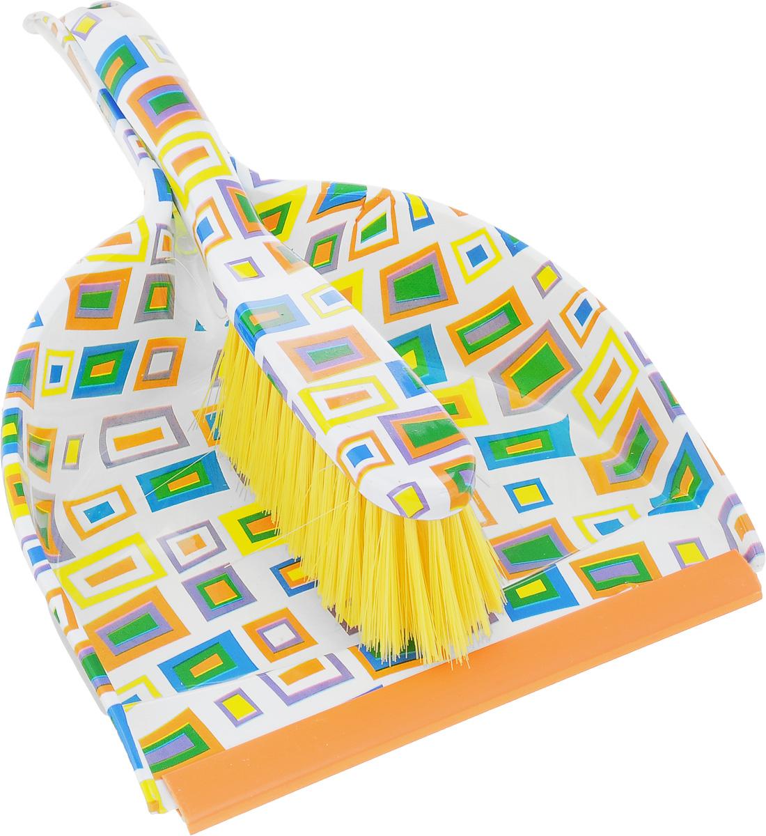 Набор для уборки Фэйт Колор, 2 предмета1.4.02.1421Набор для уборки Фэйт Флора состоит из совка и щетки-сметки, изготовленных из высококачественных пластика и нейлона. Вместительный совок удерживает собранный мусор, позволяет эффективно и быстро совершать уборку в любом помещении. Прорезиненный край совка обеспечивает наиболее плотное прилегание к полу. Щетка-сметка с жестким ворсом имеет удобную форму позволяет вымести мусор даже из труднодоступных мест. Совок и щетка-сметка оснащены ручками с отверстиями для подвешивания. С набором Фэйт Флора уборка станет легче и приятнее.Общая длина щетки-сметки: 26 см.Длина ворса щетки-сметки: 5 см.Длина совка: 32 см.Ширина совка: 22 см.