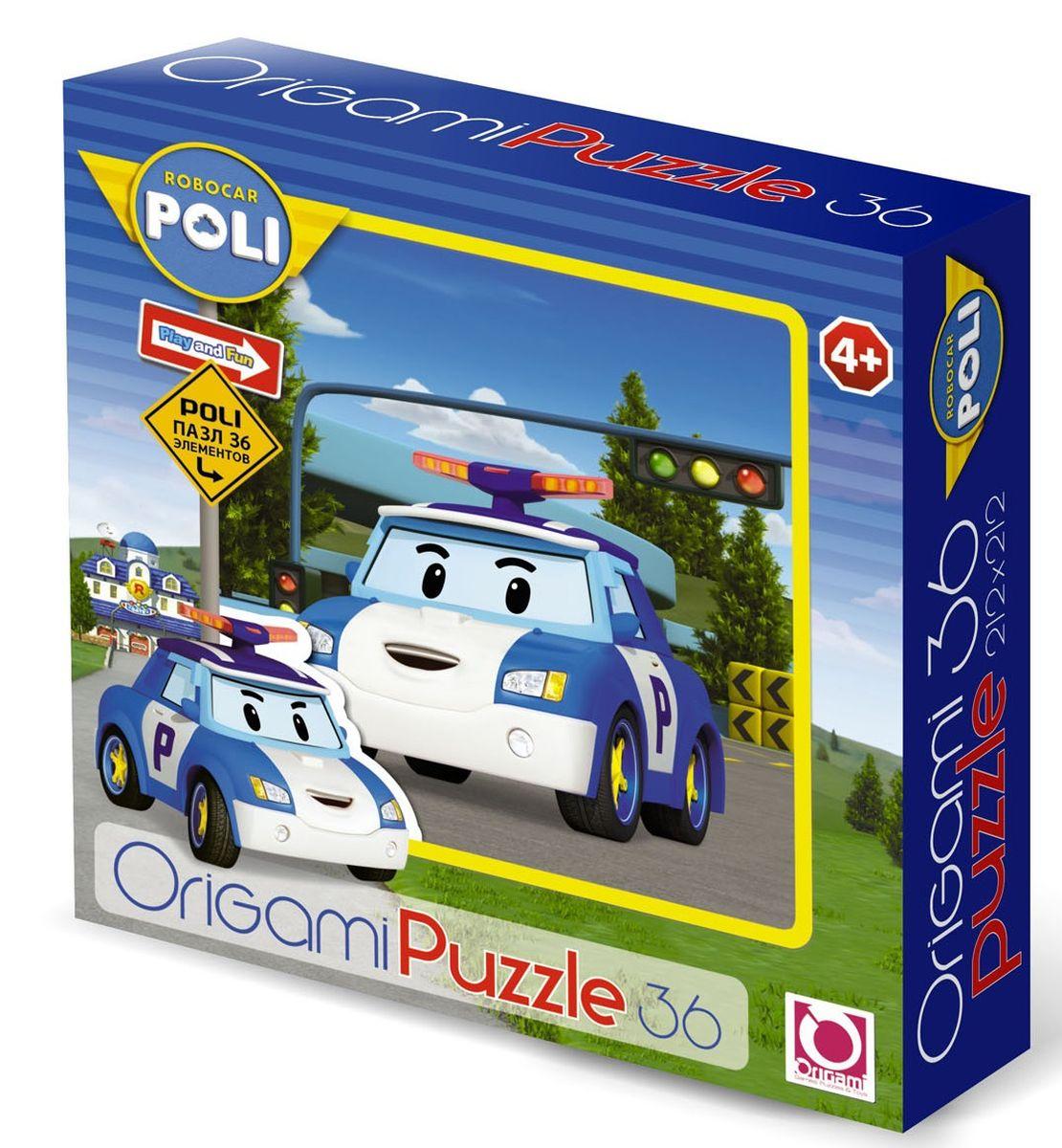 Оригами Пазл для малышей Robocar Poli 00166 пазл 3d 216 элементов оригами эйфелева башня