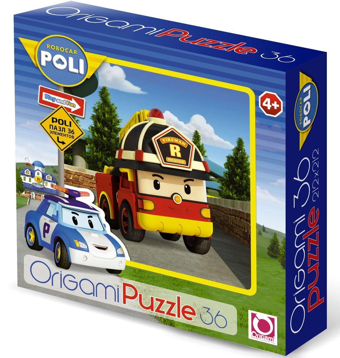 Оригами Пазл для малышей Robocar Poli 00168 флексика пазл для малышей геометрия цвет основы красный