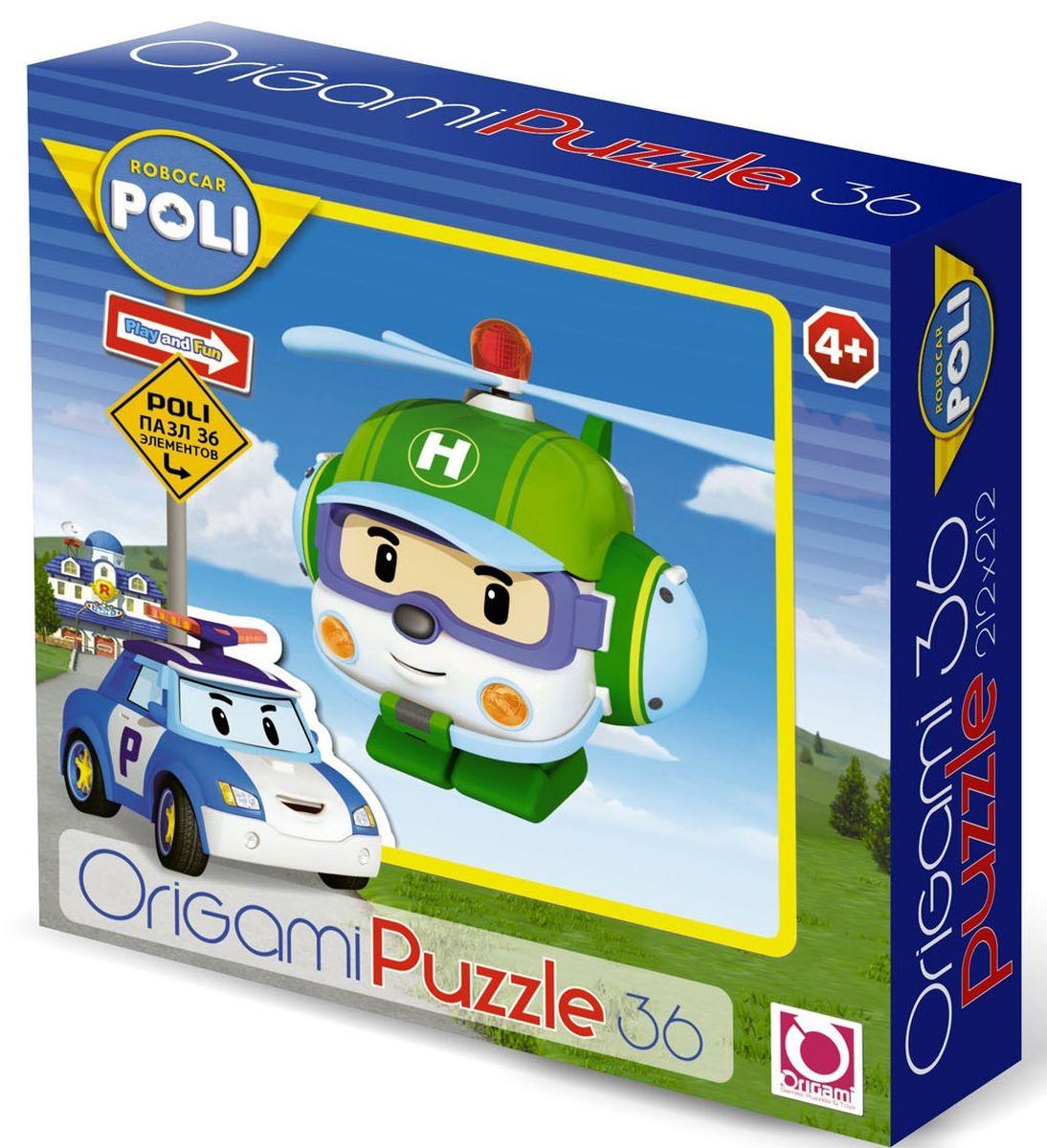 Оригами Пазл для малышей Robocar Poli 00169 пазл 3d 216 элементов оригами эйфелева башня