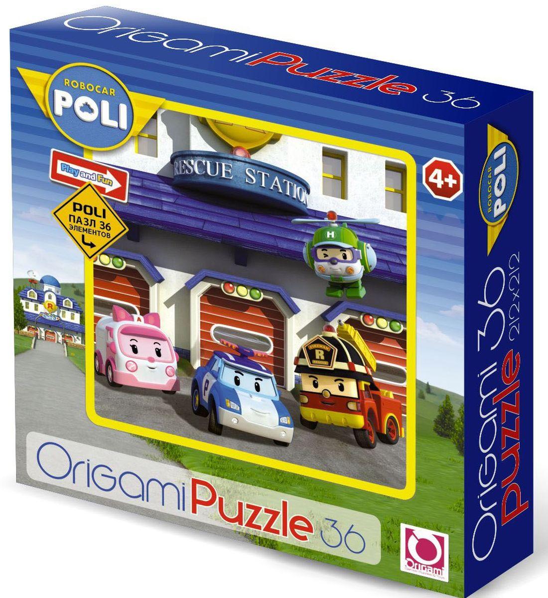 Оригами Пазл для малышей Robocar Poli 00170 пазл 3d 216 элементов оригами эйфелева башня