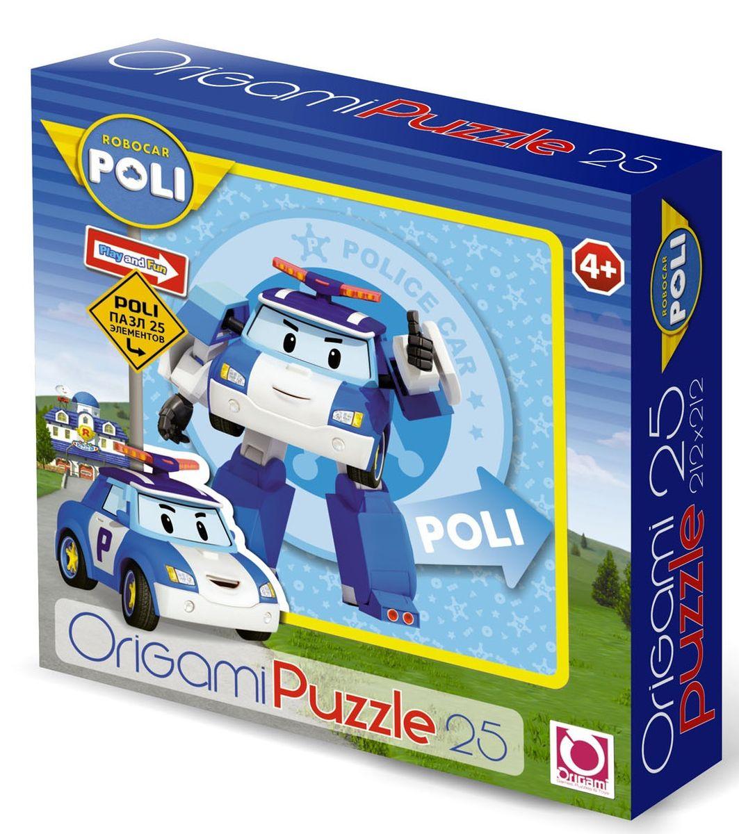 Оригами Пазл для малышей Robocar Poli 00160 флексика пазл для малышей геометрия цвет основы красный