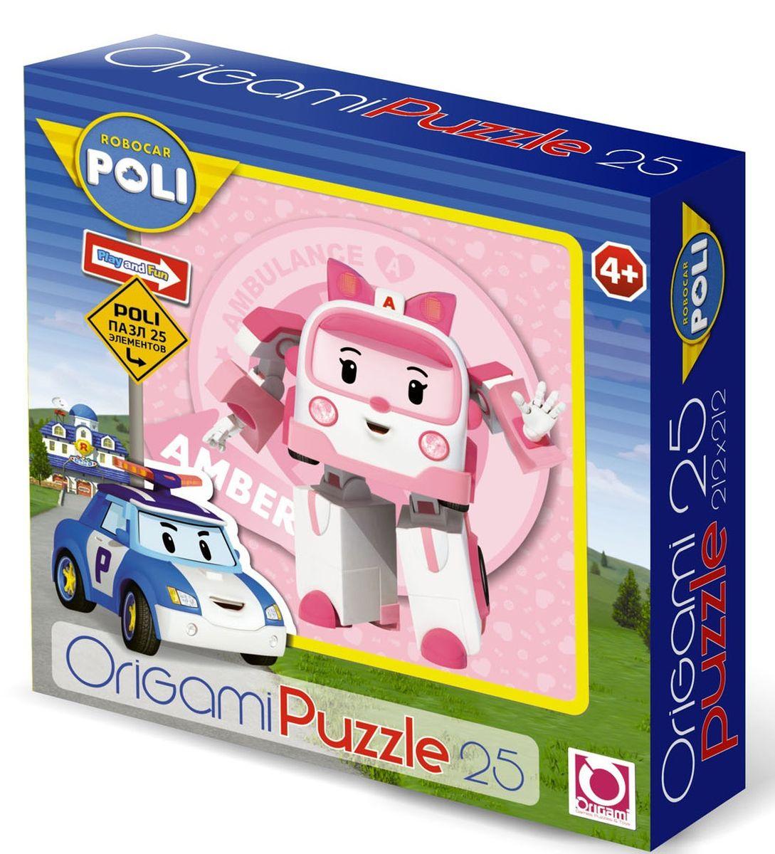 Оригами Пазл для малышей Robocar Poli 00161 флексика пазл для малышей геометрия цвет основы красный